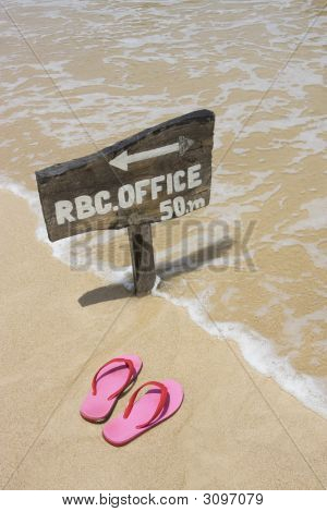Flip Flops And Sign
