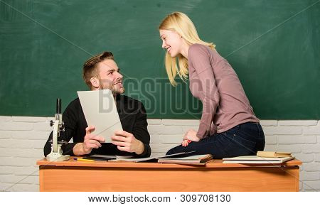 Ertificate Proves Successfully Passed University Entrance Exam. Students In Classroom Chalkboard Bac