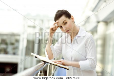 Atractive Woman With Business Diary