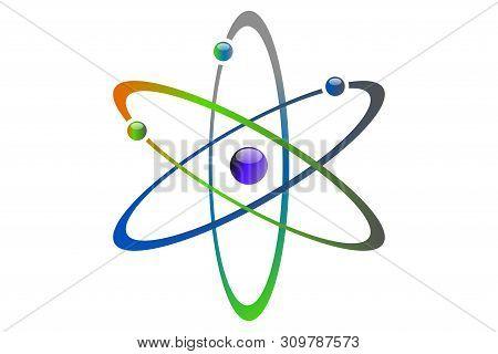 Atom Icon Vector , Atom Symbols. Vector Illustration Eps 10