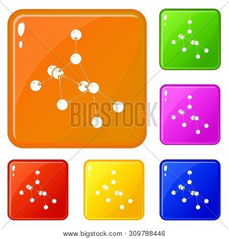 Ethyl Acetate Icons Set Collection Vector 6 Color Isolated On White Background