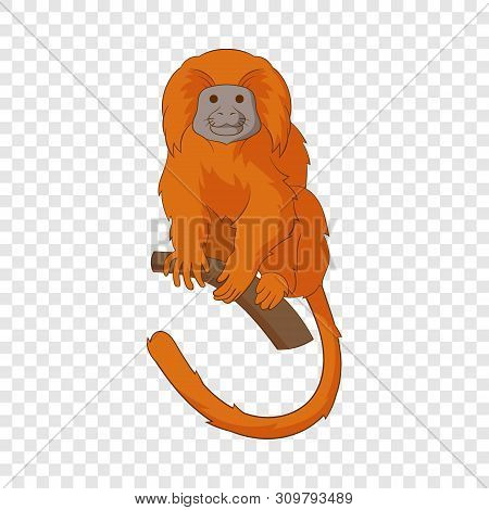 Golden Lion Tamarin Icon. Cartoon Illustration Of Golden Lion Tamarin Vector Icon For Web