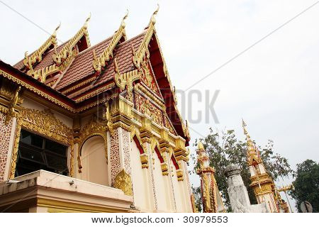 Thai art golden temple