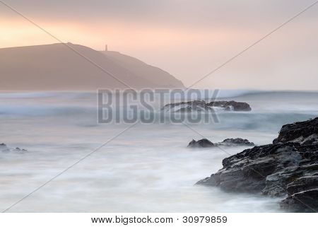 Cornwall Seascape Of Stepper Point.