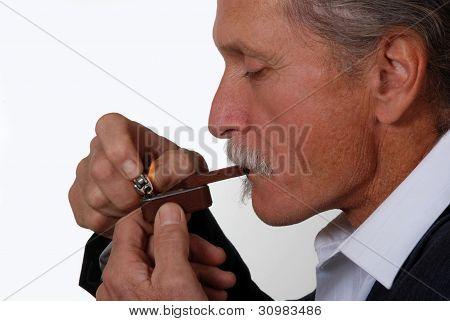 Man Smoking Marijuana Pipe