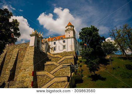 Bratislava, Slovakia: Bratislava Castle Or Bratislavsky Hrad Is The Main Castle Of Bratislava, Capit