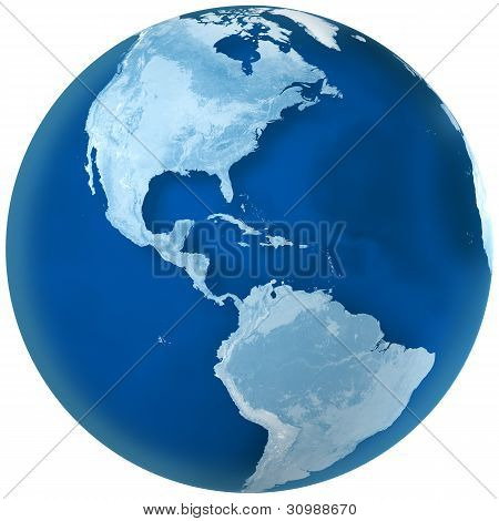 Blue Earth North And South America