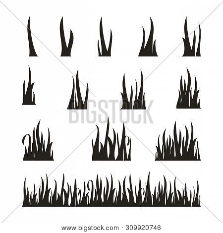 Set Of Grass Icon Vector Isolated On White Background, Grass Icons Vector Design Concept, Grass Vect