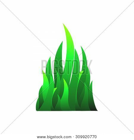 Grass Icon Vector Icon On White Background. Grass Green Icon Modern For Graphic And Web Design. Gras
