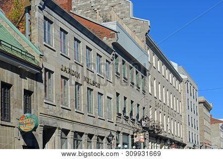 Montreal, Canada - Nov 2, 2012: Historic Building On Place Jacques-cartier In Old Town Montreal, Que