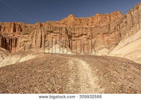 Red Cathedral At The Golden Canyon In Death Valley National Park