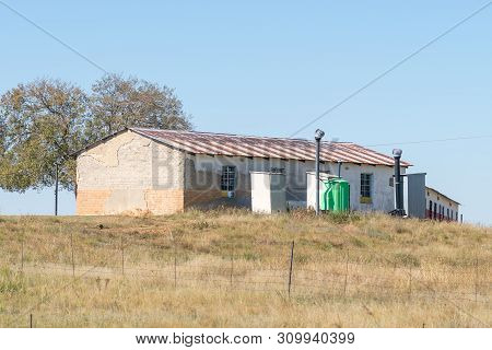 Warden, South Africa - May 1, 2019: A School Building On A Farm Between Warden And Vrede In The Free