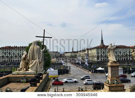 Piazza Vittorio From The Gran Madre Church