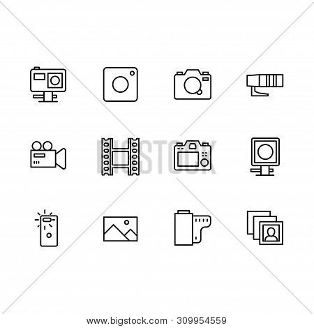 Video And Photo Camera Setting Icon Simple Symbols Set. Contains Icon Action, Mobile, Photo, Video C
