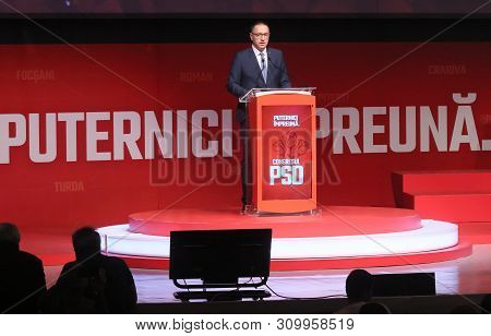 Bucharest, Romania - June 29, 2019: Mihai Fifor, Candidate (elected) For The General Secretary Of Th
