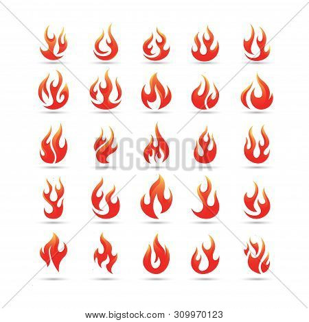 fire flames vector logo set. fire Icon, fire Icon Eps10, fire Icon Vector, fire Icon Eps, fire Icon Jpg, fire Icon Picture, fire Icon Flat, fire Icon App, fire Icon Web, fire Icon Art, Red fire flames symbols, icons vector set. Fire power tattoo and hot f