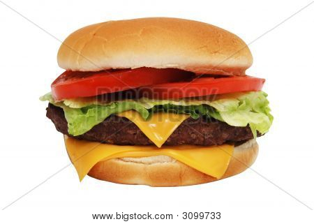 Cheeseburger Isolated
