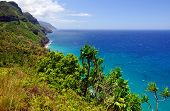 The Na Pali coast on the Island of Kauai in Summer poster