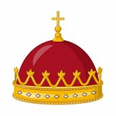 Isolated object of monarchy and gold logo. Set of monarchy and heraldic vector icon for stock. poster