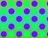 Op Art Just Circles Blue And Green poster