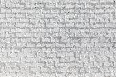 pattern of harmonic white brick wall background poster