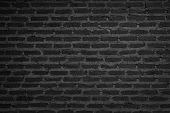 Wall dark brick wall texture background. Brickwork or stonework flooring interior rock old pattern clean concrete grid uneven bricks design stack. Black brick wall texture, brick surface for background. Vintage wallpaper. Dark black background texture. poster
