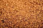 Coffee granules. Background. Arabica coffee. For texture. poster