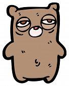 very tired teddy bear cartoon poster