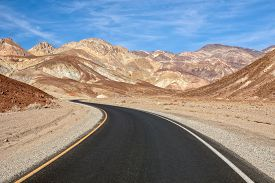Artist's Drive In The Death Valley National Park Usa