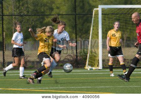 Girls Varsity Soccer Steal