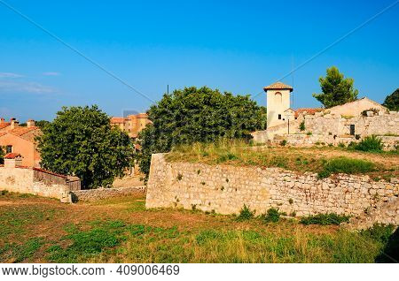 Picturesque View Of Fort Royal On Sainte-marguerite Island Near Cannes. Lerins Islands, French Rivie