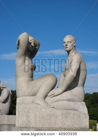 Seated Couple - Vigeland Sculpture Arrangement
