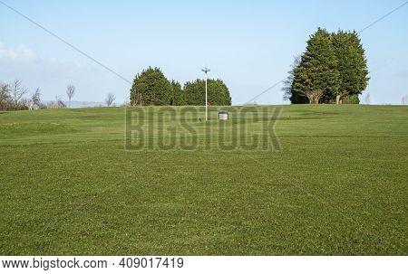 Weston-super-mare, Uk - February 18, 2021: Worlebury Golf Course