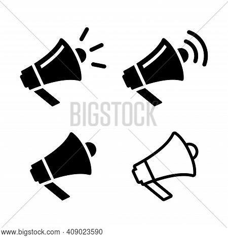 Megaphone Icon Vector Illustration. Announcement Icon. Horn Icon. Loudspeaker Icon Vector Illustrati