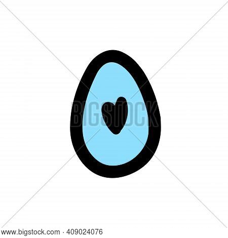 Easter Decorated Egg. Hand-drawn Vector Illustration In The Doodle Style. Egg A Sketch. Design For E
