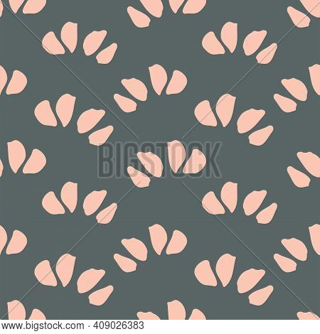 Petal Waves - Floral Seamless Vector Pattern. Hand-painted Flower Petals Forming A Wavy Pattern In T