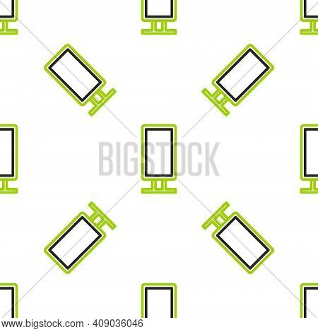 Line Big Full Length Mirror For Bedroom, Shops, Backstage Icon Isolated Seamless Pattern On White Ba