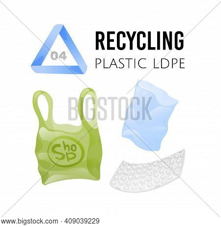 Recycling Icons. Ldpe Plastic Bags And Bubble Wrap