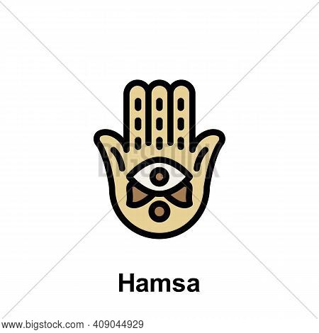 Ramadan Hamsa Hamza Outline Icon. Element Of Ramadan Day Illustration Icon. Signs And Symbols Can Be