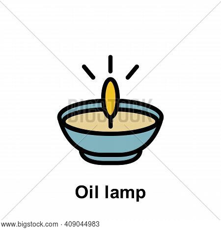 Ramadan Oil Lamp Outline Icon. Element Of Ramadan Day Illustration Icon. Signs And Symbols Can Be Us