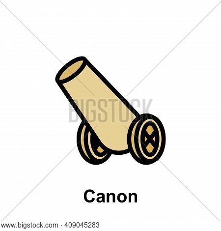 Ramadan Canon Outline Icon. Element Of Ramadan Day Illustration Icon. Signs And Symbols Can Be Used