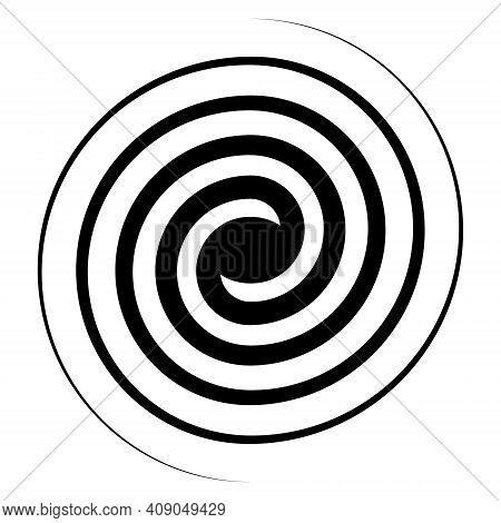Spiral Swirl Icon, Swirl Sign Vector Double Spiral Galaxy Evolution Symbol