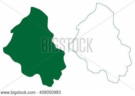 Shi Yomi District (arunachal Pradesh State, Republic Of India) Map Vector Illustration, Scribble Ske
