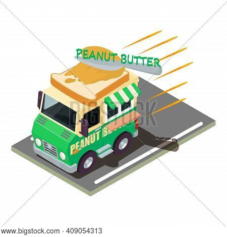 Breakfast Delivery Icon. Isometric Illustration Of Breakfast Delivery Vector Icon For Web