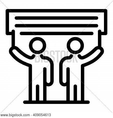 Banner Manifestation Icon. Outline Banner Manifestation Vector Icon For Web Design Isolated On White