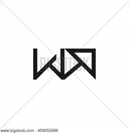 Letter Wa Arrow Up Geometric Logo Vector