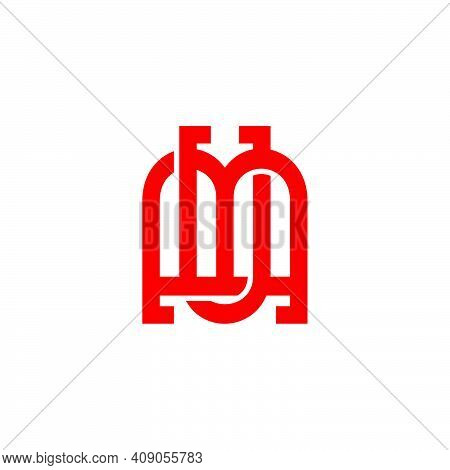 Letter Mu Abstract Front Store Geometry Logo Vector