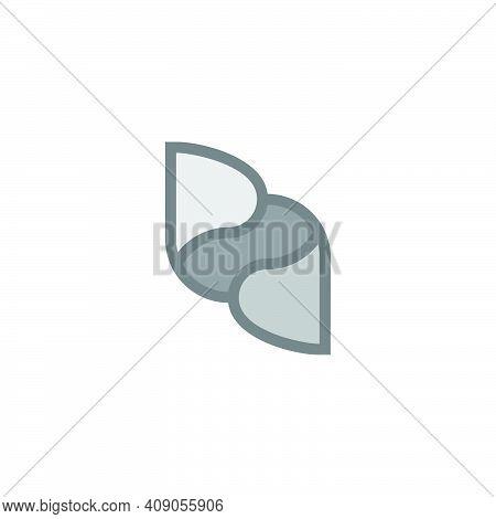 Letter Pd Motion Paper Fold Symbol Logo Vector