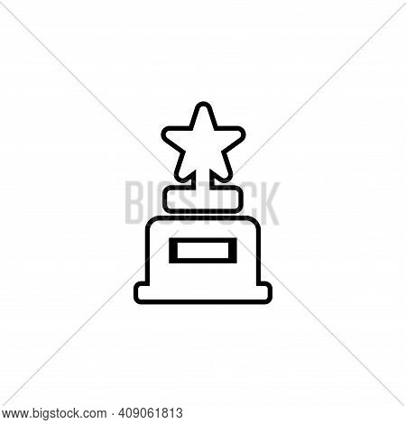 Trophy Icon Vector. Trophy Icon Vector Isolated On White Background. Trophy Icon Vector Simple And M