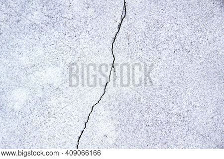 Grunge Old Wall Texture With Cracks. Wall From Concrete Cement With Natural Prints For Vintage Backg